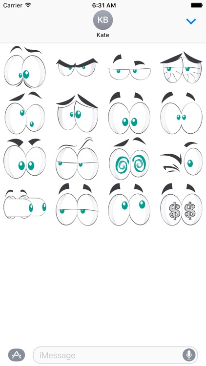 Comical Eye - Cartoon Stickers for iMessage