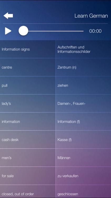 Learn GERMAN Learn Speak GERMAN Language Fast&Easy screenshot-3