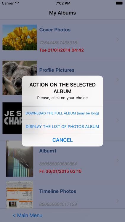 Your Albums, photos and Videos screenshot-3