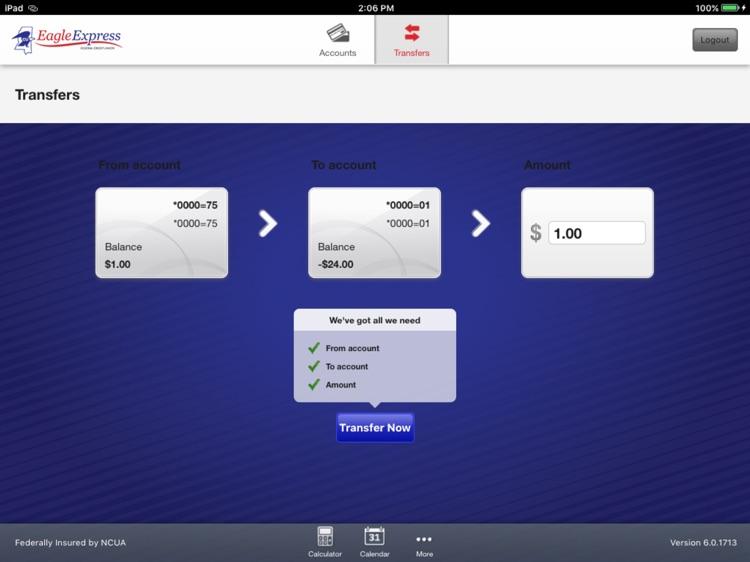 Eagle Express FCU for iPad screenshot-3