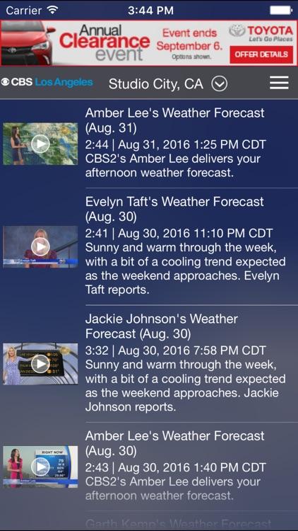 CBS LA Weather screenshot-3