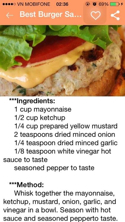 Burger Recipes - Beef Burgers,Veggie Burgers,Chicken Burgers,Burger Sauces screenshot-3