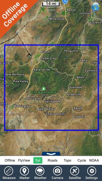 Zion National Park - GPS Map Navigator screenshot-4