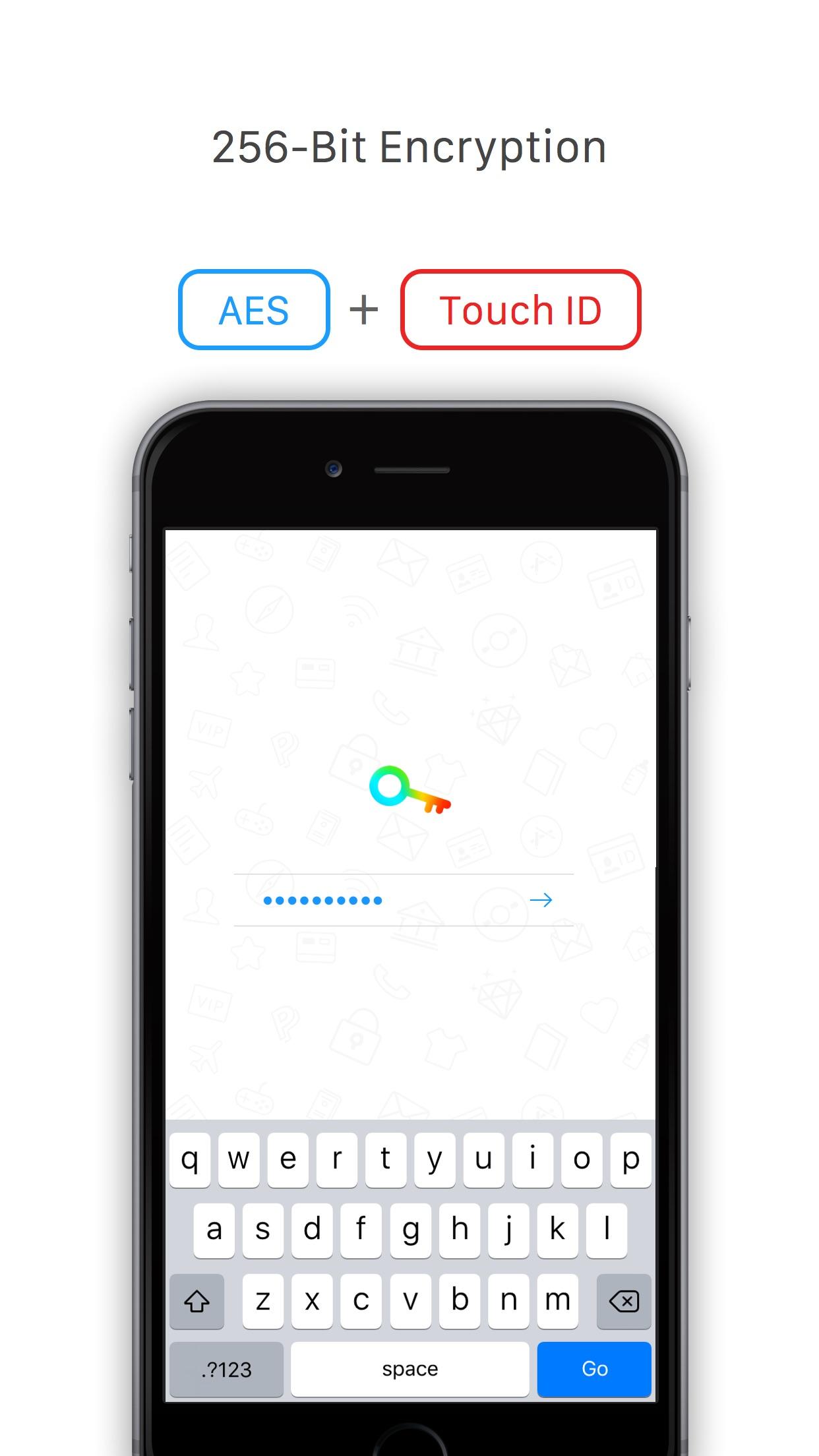 Screenshot do app Tiny Password - Secure Password Manager
