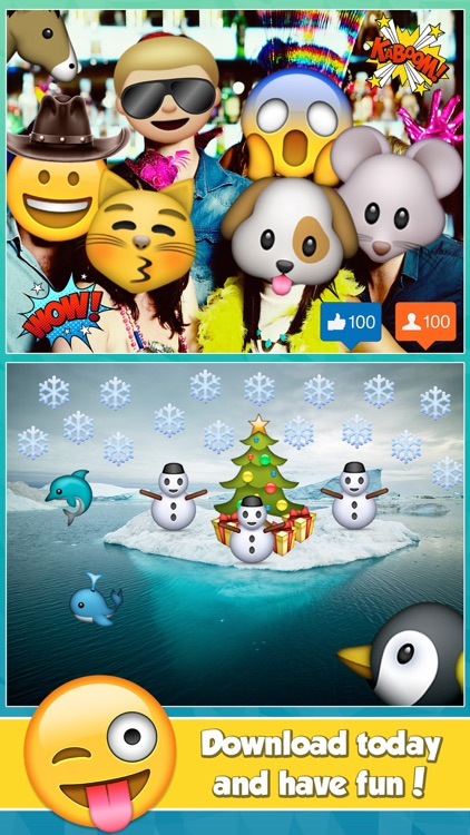 Insta Emoji Photo Editor- Add Cool Emoticon Stickers to your Pictures screenshot-4