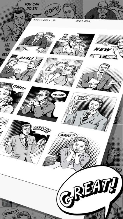Vintage Comic Stickers