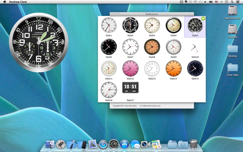 Desktop Clock: Wallpaper Clock & Live Dock Icon + Screenshots
