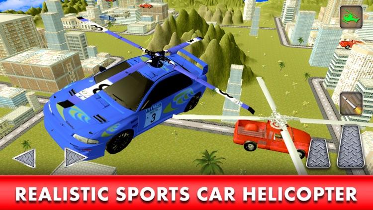 Flying Racing Car Simulator: Futuristic Airplay screenshot-4