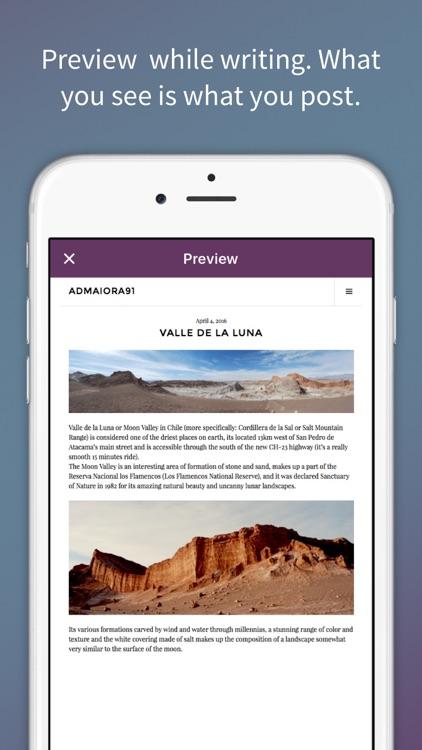 Blogo - Simple, powerful blog editor app screenshot-4