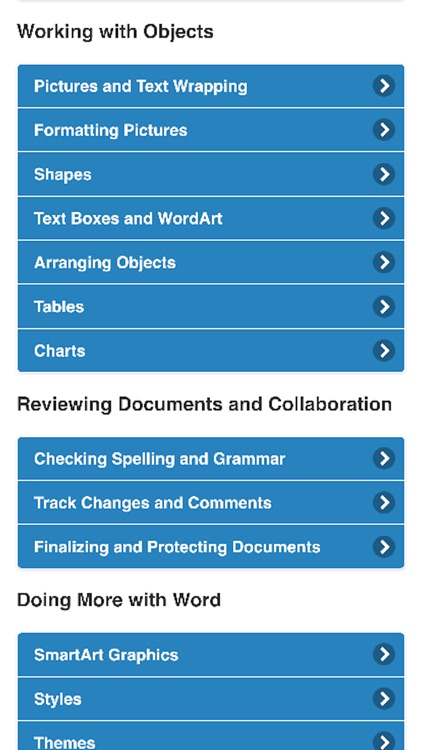 Tutorial for Microsoft Word  - Step by step to learn Word screenshot-3