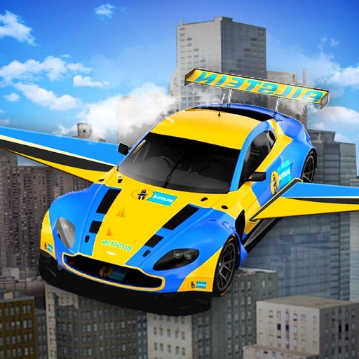 Flying Racing Car Simulator: Futuristic Airplay