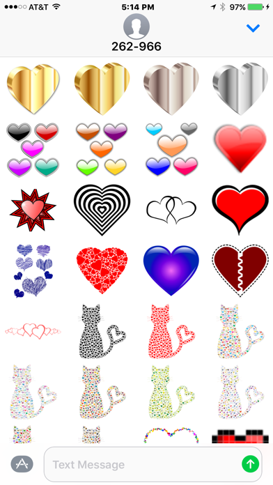Hearts and Love Stickers screenshot four