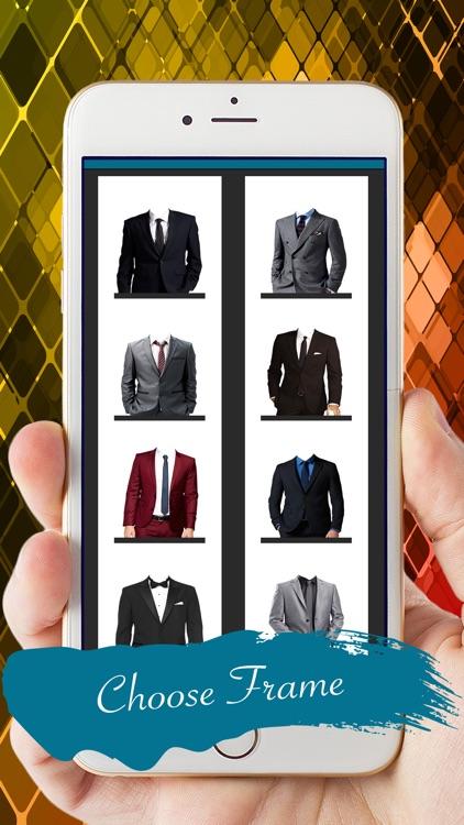 Men Fashion Suit Photo Montage screenshot-3
