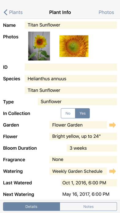 Plant Album screenshot two