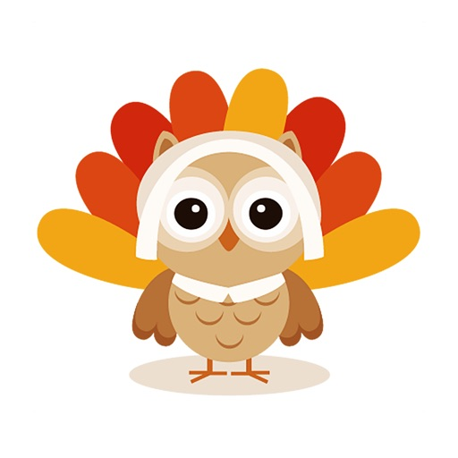 OwlMoji - Cute Owl Stickers for Thanksgiving