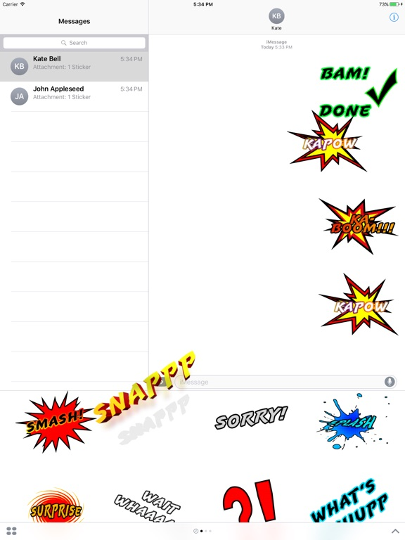 Comic Messages-ipad-1