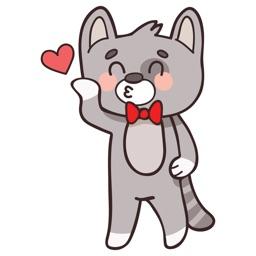 Cat In Love Sticker Vol 01