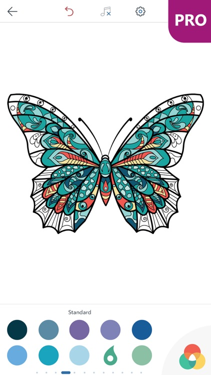 Butterfly Coloring Pages for Adults PRO screenshot-4