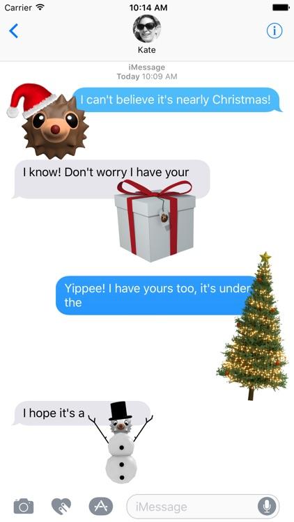 HedgeHoger Heads Christmas Stickers screenshot-4