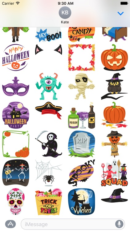Halloween Party: Stickers by EmojiOne