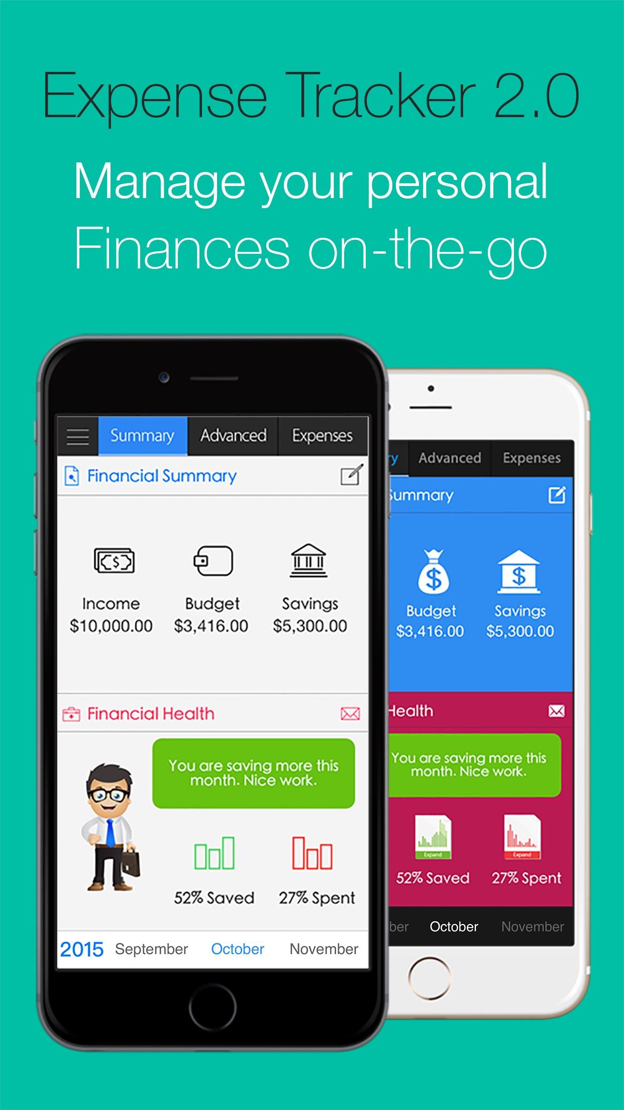 Expense Tracker 2.0 Let's Save Screenshot