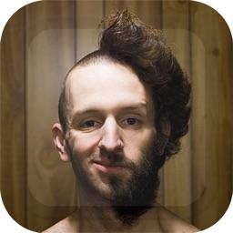 Bald Head Virtual Barber Shop Funny Picture Frames