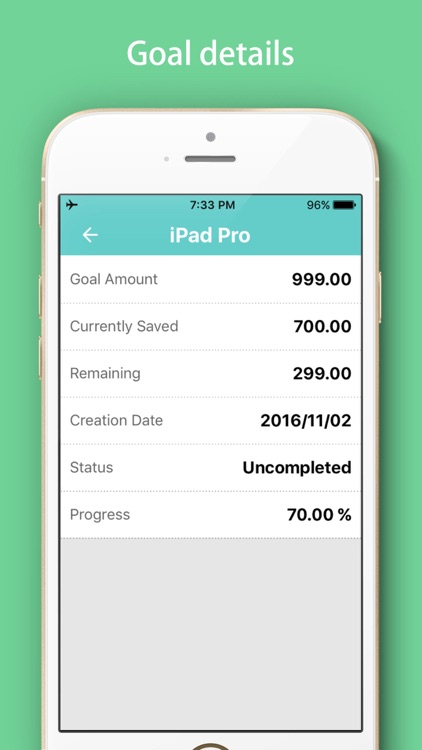 Savings Goals Tracker - Daily Saving Money Box