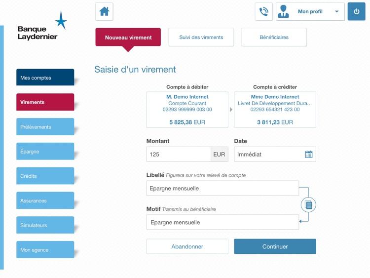 Banque Laydernier pour iPad screenshot-3