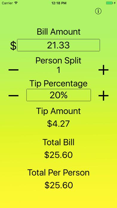 Just The Tip - Tip Calculator screenshot three