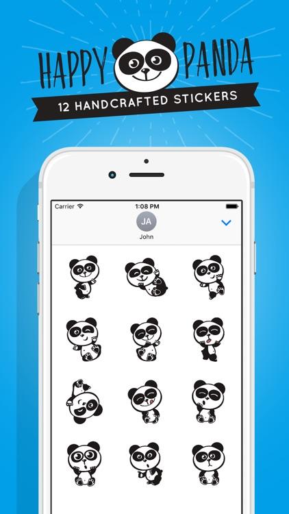 Happy Panda Stickers