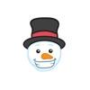 Snowman Face Stickers - Christmas Snowman Reviews