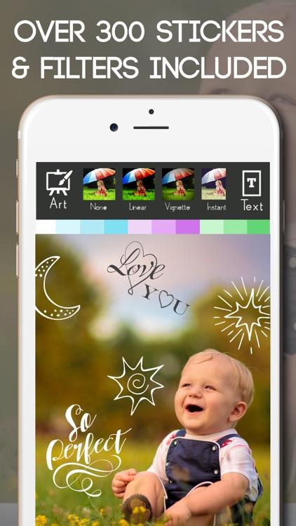 Baby Milestone Free Sticker Maker Pregnancy Editor screenshot-4