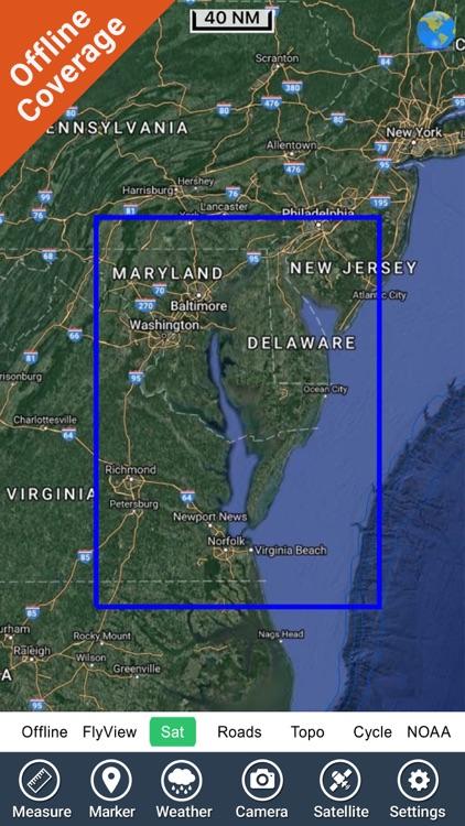 Marine : Chesapeake Bay - GPS Map Navigator screenshot-4