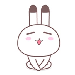 Happy Rabbit Animated Sticker for iMessage