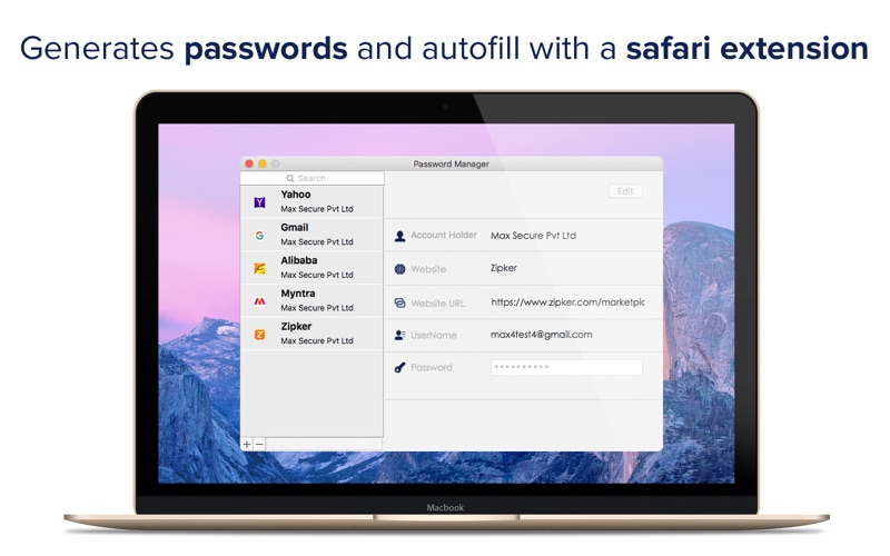 Password Manager by Max Secure скриншот программы 2