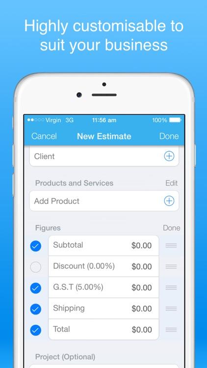 Job estimate maker - Create & send PDF estimates