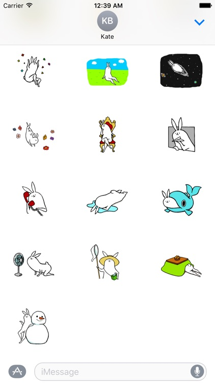 Weird long leg rabbit 2 - Stickers for iMessage