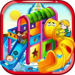 Water slide repair –Aqua amusement park dreamland