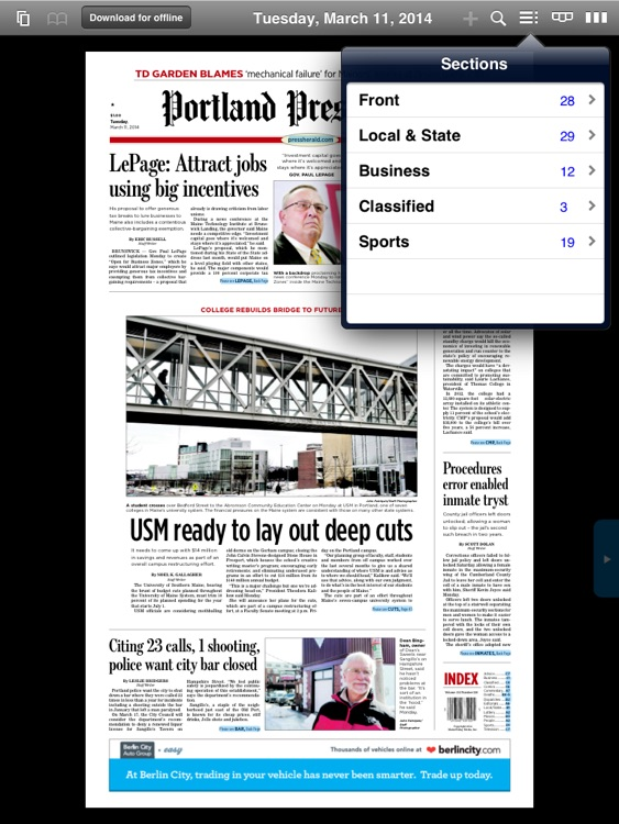 Portland Press Herald e-Edition