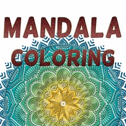 Adult Mandala Coloring Book Therapy Stress Relief