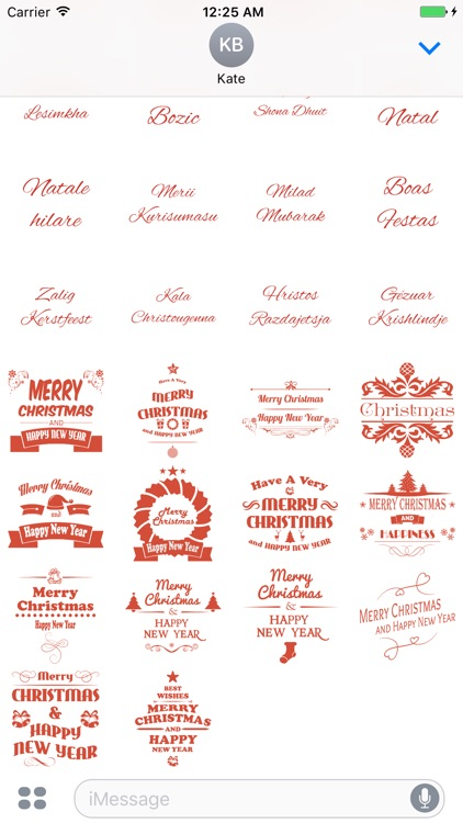 Merry Christmas Stickers Pack for iMessage screenshot-4