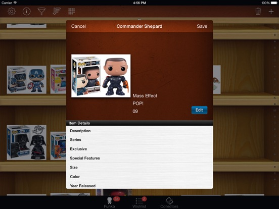Vinyl Figure Toy Collector Manager - iPad version screenshot four
