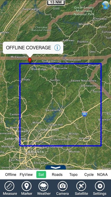 Lake Lanier GA HD gps charts fishing maps offline screenshot-4