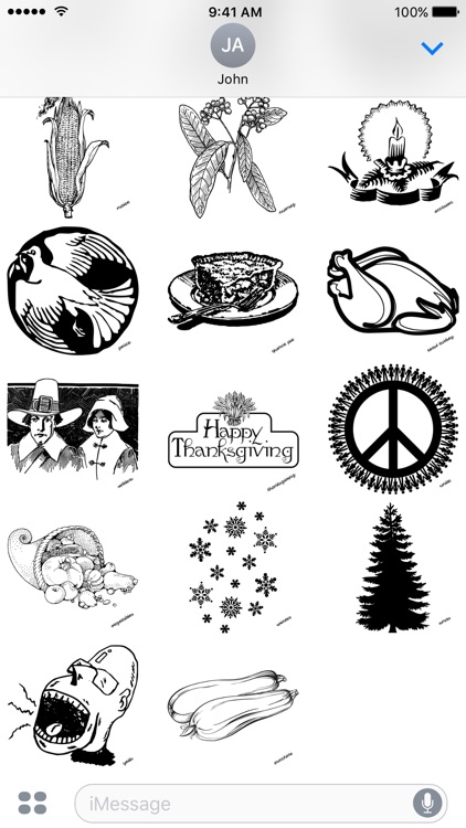Thanksgiving Thursday - A to Z Stickers