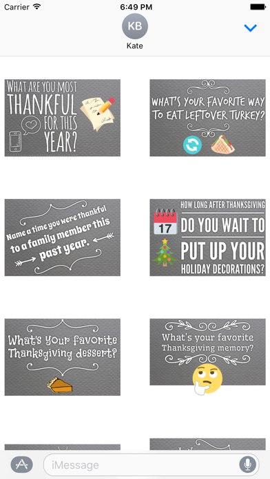 GladLibs: Thanksgiving Prompts screenshot three