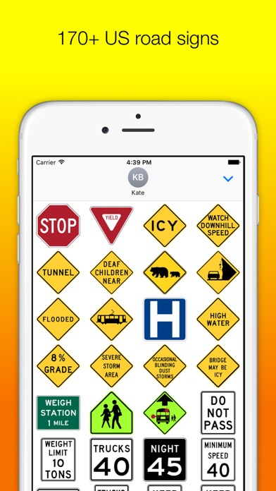 US Road Signs for iMessage screenshot two