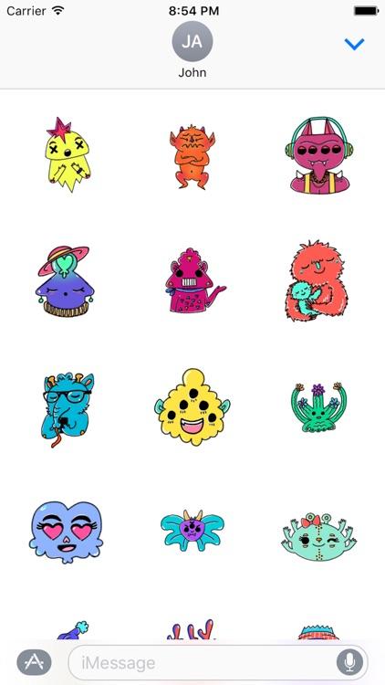 Monster Cartoon Sticker