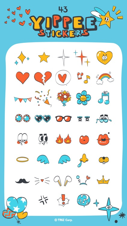 Yippee stickers