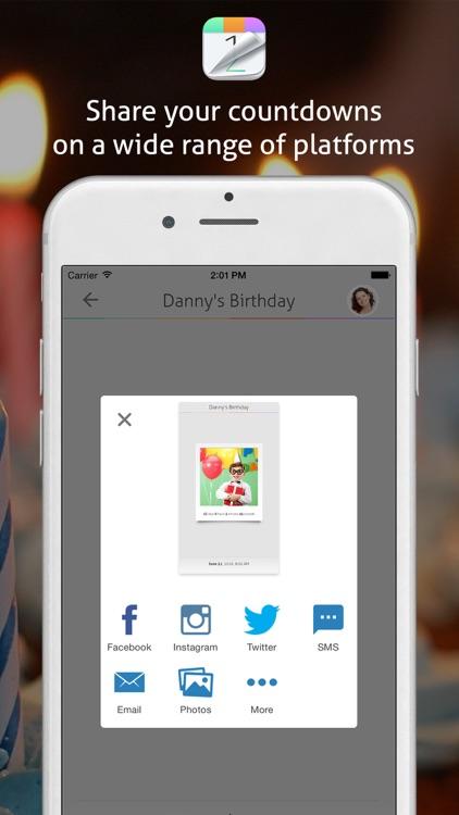 Countdown+ Social & Calendar Events screenshot-4
