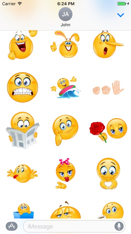 Emoji Sticker Pack For iMessage